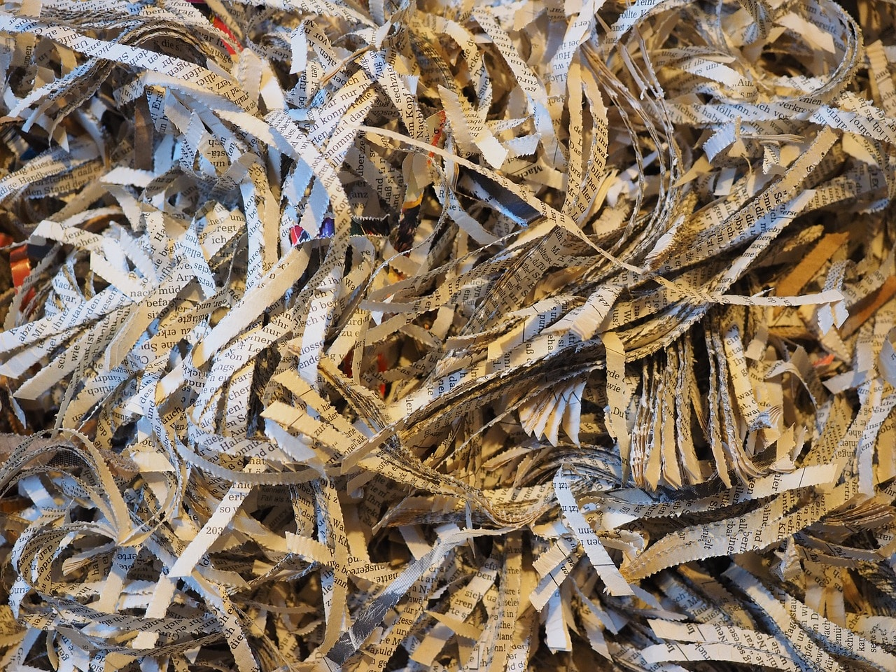 Comparing Document Shredding to Just Recycling